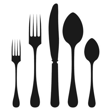 tenedor cuchara y cuchillo conjunto