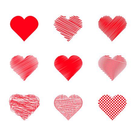 silhouette coeur: ensemble de coeurs