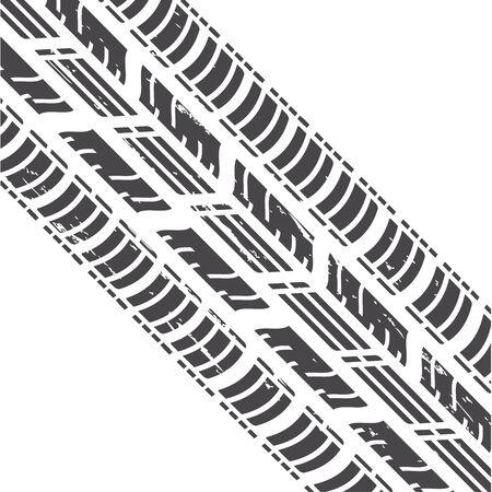 tire track: Tire Track Illustration