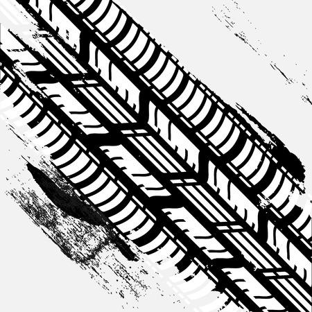 vector tyre: Tire Track Illustration