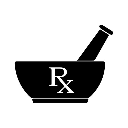 Medicine symbol Rx prescription vector Illustration
