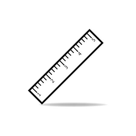 Ruler Icoon Vector Illustratie