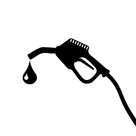 nozzle: Gasoline Pump Nozzle Symbols Illustration