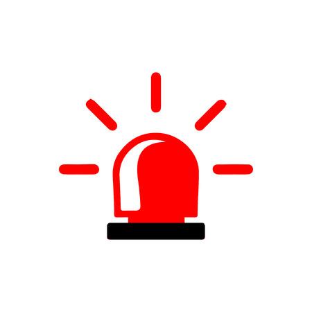 Police or ambulance  siren logo Illustration
