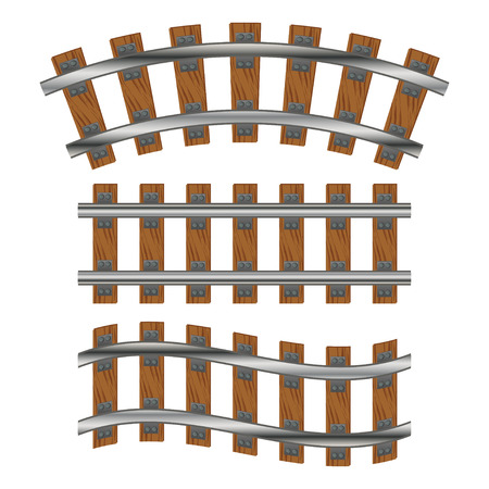 鉄道線路  イラスト・ベクター素材