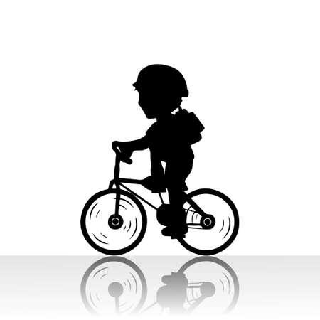 cyclist silhouette: cyclist silhouette