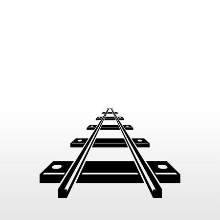 Pictogram spoorweg Stock Illustratie