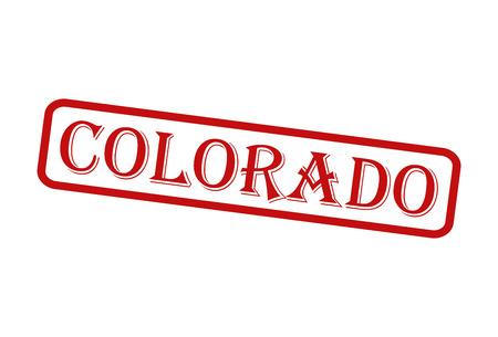 colorado: COLORADO Red Rubber Stamp vector over a white background