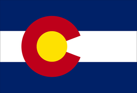 colorado flag: High detailed vector flag of Colorado Illustration