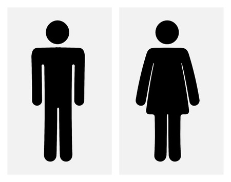 bathroom sign: Male and female WC icon