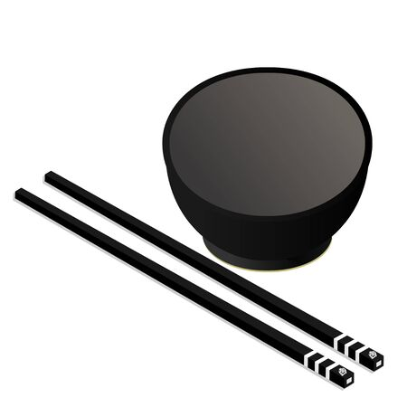 chopstick: Bowl with  Chopstick