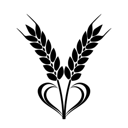 心の要素を持つ小麦耳アイコン