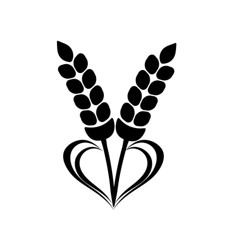 Wheat Ears Icon with Heart element