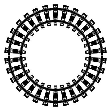 Train Tracks  Standard-Bild - 40770781