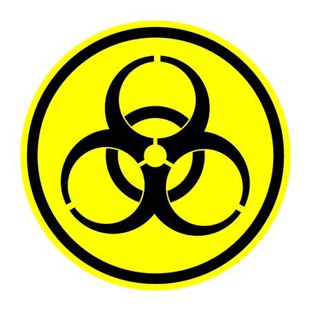 riesgo biologico: Los Símbolos Biohazard Vectores