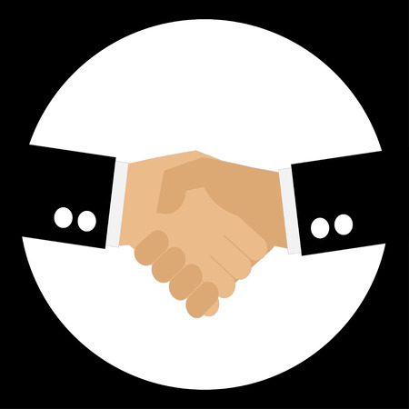 equal opportunity: businessman to hand shake