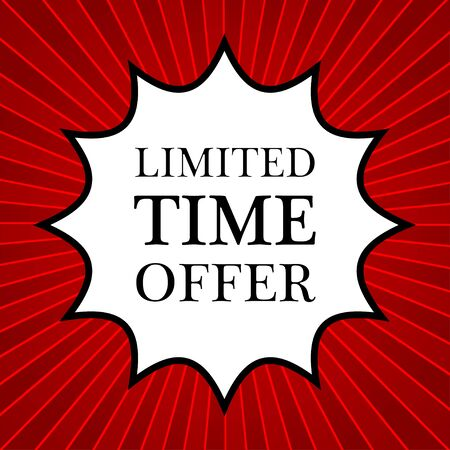 limited time: Comic book explosion with text limited time offer Illustration