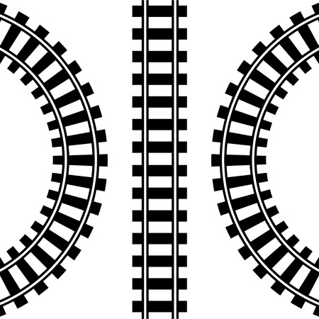 black train: Train Tracks