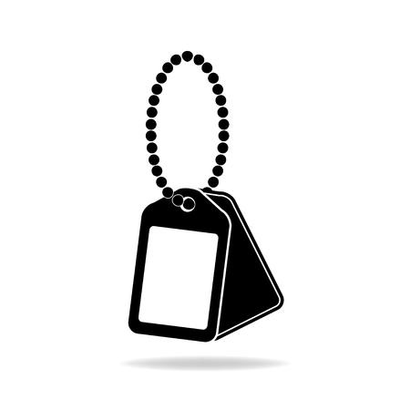 dog tag: Dog Tag Icon. Illustration