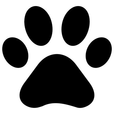 animal tracks: Paw Print Illustration