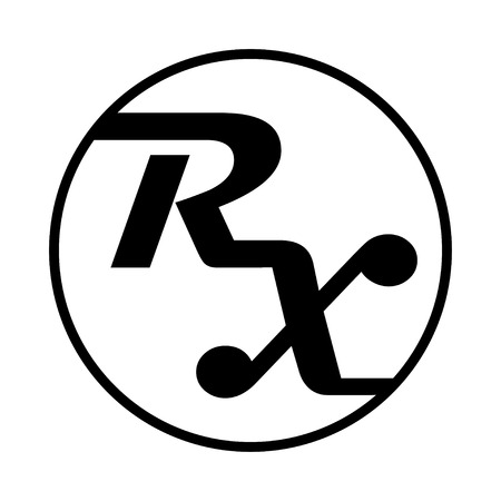 rx: Medicine symbol Rx prescription