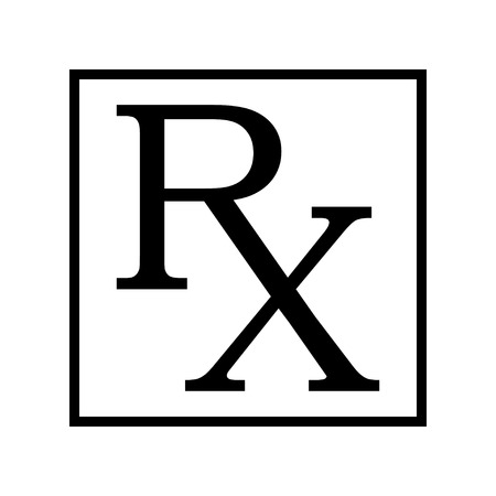 symbol sign: Medicine symbol Rx prescription