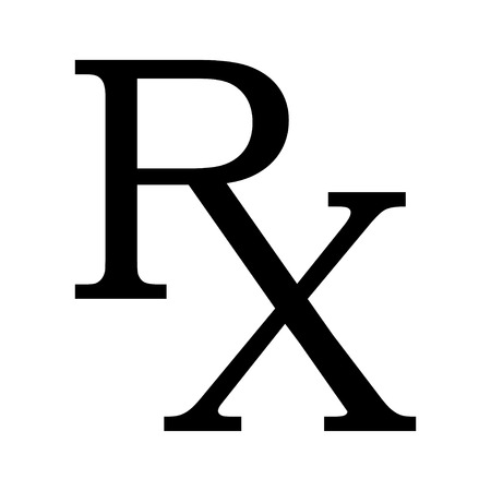 symbol: Medicine symbol Rx prescription