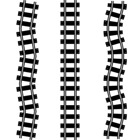 Symbool van de spoorweg Stock Illustratie
