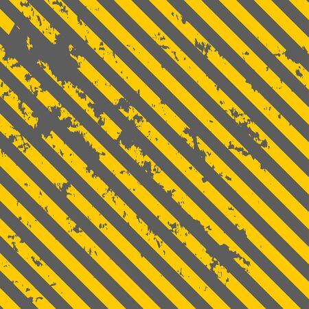 hazard tape: textured old striped warning background