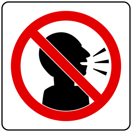 silent please Sign