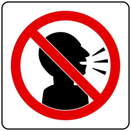 silent gelieve Sign Stock Illustratie