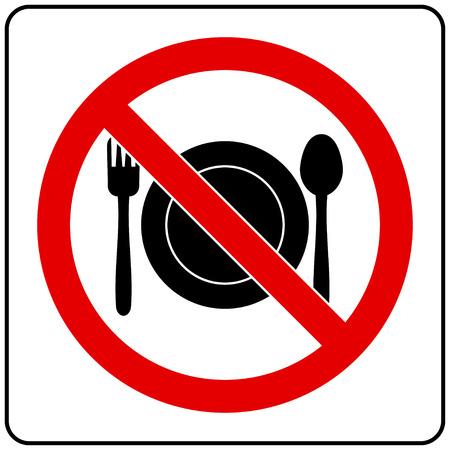 forbidding: forbidding food Sign