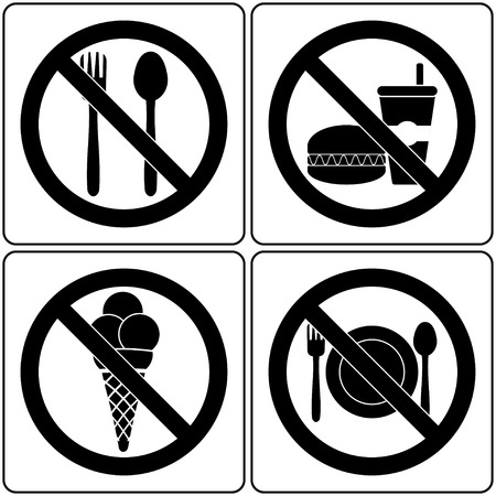 forbidding food Sign