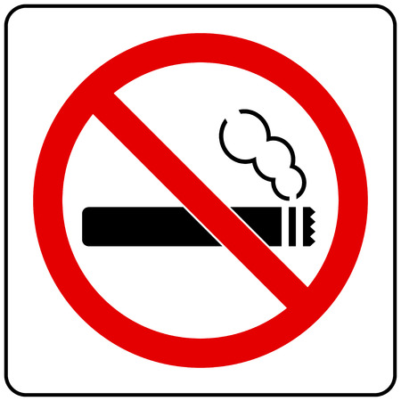 abstain: No Smoking Sign Illustration