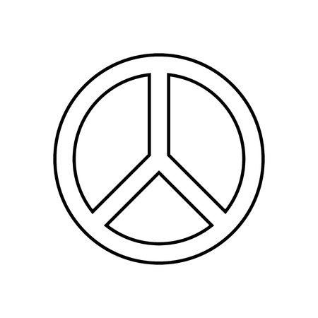 antiwar: Peace Symbol Illustration