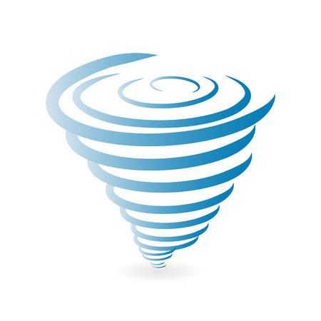 tornado wind: Tornado Icon Illustration
