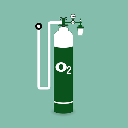 compressed gas: Oxygen cylinder