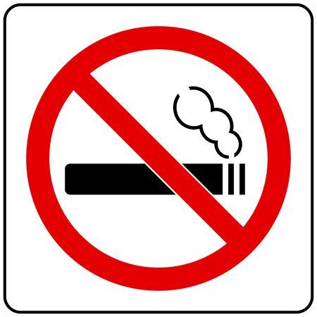 nicotine: No Smoking Sign Illustration