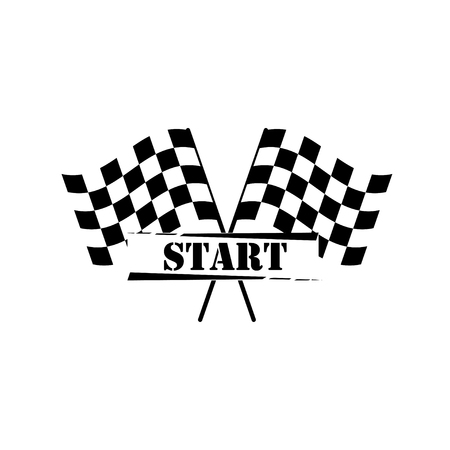 racing checkered flag crossed: Flag Cross