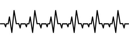 white heart: pulse
