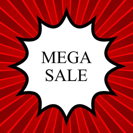 job offers: Comic book explosion with text mega sale Illustration