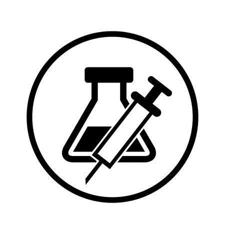glassware: Laboratory glassware and syringes