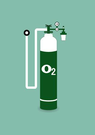 oxigeno: Cilindro de ox�geno