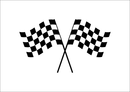 checker flag: Flag Cross