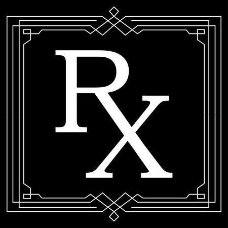 rx: Medicine symbol Rx prescription