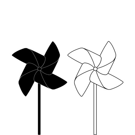 pinwheel: PINWHEEL OUTLINE AND SILHOUETTE