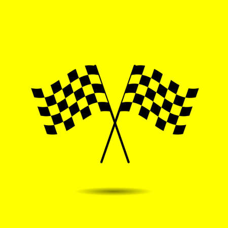 two crossed checkered flags: Flag Cross