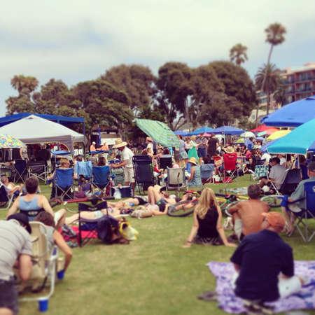 Sunday outdoors concert and dancing on grass Stock fotó - 25105739