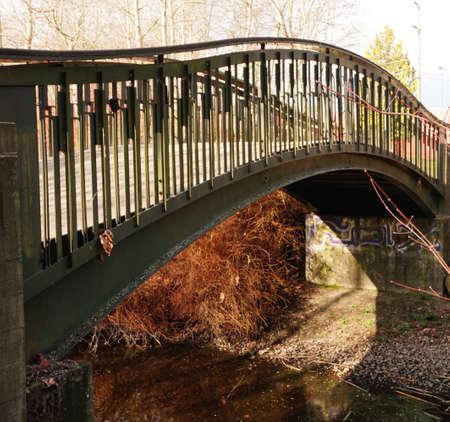 pedestrian bridges: Autumn bridge