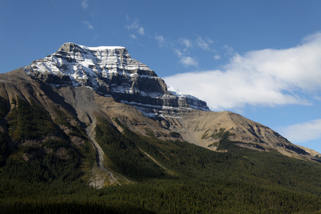 rockslide: Beautiful view found along the Icefields Parkway  (Promenades des Glaciers), Alberta, Canada.